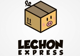 Logo design concept for a Lechon Delivery company.